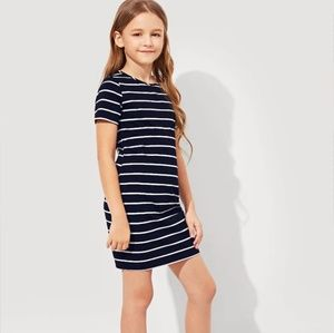 NWT Girls Striped T-Shirt Dress on 4 Color Choices